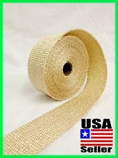 "TAN MOTORCYCLE EXHAUST WRAP Heat Manifold Header 2""x 25FT ROLL VERY HIGH TEMP"