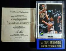 1992 Classic Alonzo Mourning Signed Rookie Autograph Buyback Auto Scoreboard COA
