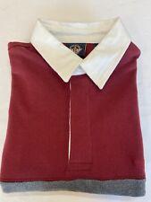NEW Dockers Long Sleeve Rugby Shirt Men's Medium Stripe
