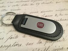 FIAT  Key Ring Etched and infille On Leather