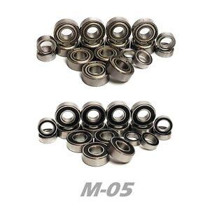 Bearing Set for TAMIYA M-05 M05 M05L M05RA MO5 COMPLETE 18 Bearings RUBBER/METAL