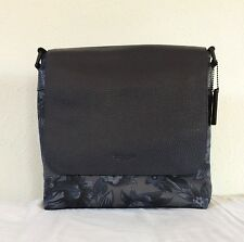Coach Charles Hawaiian Floral Print Pebble Leather/Nylon Fabric  Messenger Bag