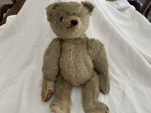 """Antique Steiff 17"""" Blonde Mohair Jointed Teddy Bear with Glass Eyes"""