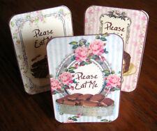 Please Eat Me cake candy tent cards set of 6 party table decoration