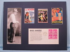 Saluting The Films of the American Humorist Will Rogers & First Day Cover