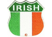 IRISH SHIELD EMBROIDERED  BIKER PATCH