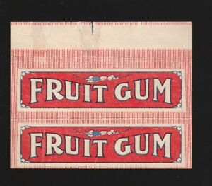 Advertising chewing gum wrapper label --- HELMET Cincinnati OHIO 1920's