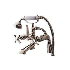 WATERSMITH HERITAGE KENSINGTON BATH SHOWER MIXER TAP POLISHED NICKLE