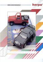 1 Herpa Neuheiten 1991 6/91 Prospekt Modellautos Modellautoprospekt brochure