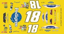 #18 Kyle Busch Pedigree Toyota 2014-2017 1/43rd Scale Slot Car Decals 1/43rd