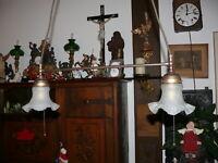 rarität große Jugendstil Lampe Deckenlampe kein Original Nachbau  ca. 50 Jahre
