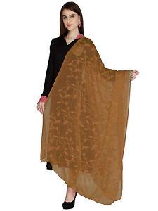 Dupatta Chiffon Scarf Chunni Hand Embroidery Stole Hijab Women Wrap Party Wear