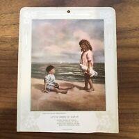 Rare Early 1900s Advertising Calendar Card with Poem James Arthur CHILDREN BEACH