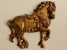 Mid Century Modern/Hollywood Regency Large Syroco Gold Horse Wall Art/Plaque