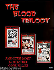THE BLOOD TRILOGY Herschell Gordon Lewis Collection Boxset New & Factory Sealed