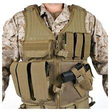 New! Blackhawk Omega Elite Vest Cross Draw/Pistol Mag Coyote Tan 30EV26DE