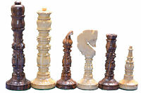 Wooden Chess Set Historical Medieval Design reproduction Collectible 32 Pieces s