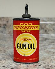 VINTAGE WINCHESTER 3 OUNCE NEW GUN OIL TIN CAN - LEAD TOP