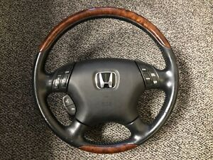 2003-2007 JDM Honda Inspire Accord UC1 UC3 CM5 CM6 Steering Wheel OEM Woodgrain