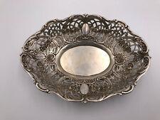 alte Schale aus 800 Silber - ca. 20,5 cm - wunderschöne Durchbrucharbeit