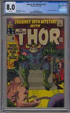 JOURNEY INTO MYSTERY #122 CGC 8.0 WHITE PAGES MARVEL