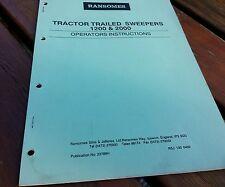 Ransomes Tractor remolcado de 1200 y 2000 Barredora Manual del operador.