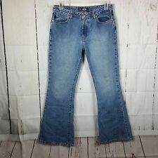 Bongo Womens sz 11 Vintage Jeans Flare Distressed Denim Pants I17