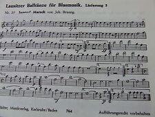 Lausitzer Balltänze Lieferung 3    Bariton und Posaune in b (Violinschlüssel)