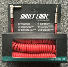 THE COILY CABLE IS BACK! NEW 30' RED BULLET CABLE COIL ELECTRIC GUITAR CABLE