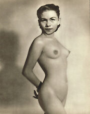 1950s Female Filipino Asian Nude John Everard Vintage Photo Gravure Print