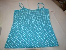 St Eve Juniors Womens XL turquoise white dots tunic cami camisol tank top shirt