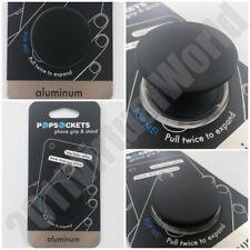 PopSockets Single Phone Grip PopSocket Universal Phone Holder BLACK ALUMINUM