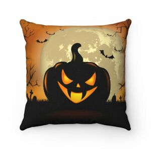 Adorable Pumpkin Full Moon Halloween Decoration Square Pillow Great Gift