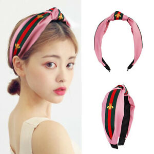 1pc Fashion Women Striped Knot Hairband Hair Hoops Bee Hair Accessories Band