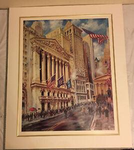 "Kamil Kubik, Wall And Board Street New York Print22""x 27.5"" No Frame"