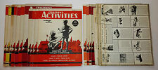 Lot of 1943-49 CHILDREN'S ACTIVITIES MAGAZINE COVERS + LOOSE PAGES