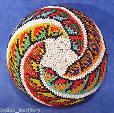"Paiute Beaded Basket with Star Motif c.1930-50 2 1/4"" x 4 1/4"""
