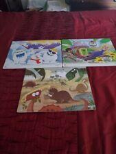 Lot of 3 Playmonster Preschool Puzzles