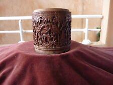 boite à thé chine bambou sculpté