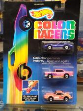 HOT WHEELS 1987 COLOR RACERS  55 CHEVY, VET STINGRAY, PORSCHE