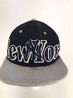 Vintage New Era New York Yankees Navy Blue Rare SnapBack Hat Cap Fast Free Ship