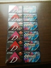 Lot of 12 TKD high output D60  and 110 audio Cassette Tapes BLANK BRAND NEW