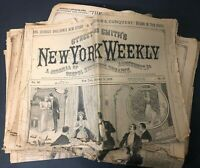 Street Smith New York Weekly Newspaper Lot GEORGIE SHELDON dime novel stories
