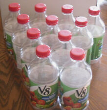 Clear Bottles 12 Empty V-8 Juice Containers Clean 46 Ounces @See My Other Items