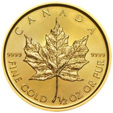 2019 $20 Gold Canadian Maple Leaf .9999 1/2 oz Brilliant Uncirculated