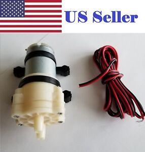 12V DC R385 Aquarium Pump Fish Tank Motor Diaphragm Water/AIR Pump + 2m Wire