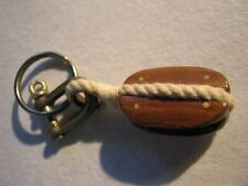 Wonderful Hand Made Vintage Block & Tackle Pulley Key Chain for Your Sailor