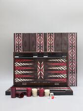 """20"""" yenigun Trandy Nero Design Backgammon Set Gioco da tavolo in legno-dadini"""