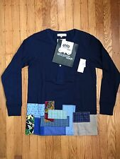 NWT RARE Junya Watanabe Merz b. Schwanen Patchwork Cotton Long Sleeve Shirt - M