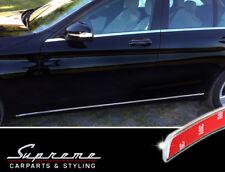Mercedes C Class WHITE BLACK 205 Chrome Trim Tuning 3M Door Trim 4 Piece